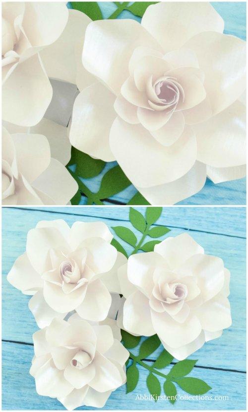 DIY paper gardenias