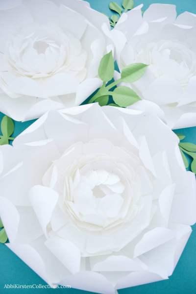 DIY Giant Snow Peony Paper Flower Tutorial