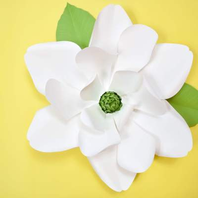 DIY Giant Paper Magnolia Tutorial