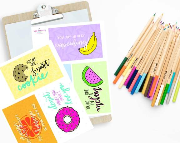 Back to school lunch box printables.