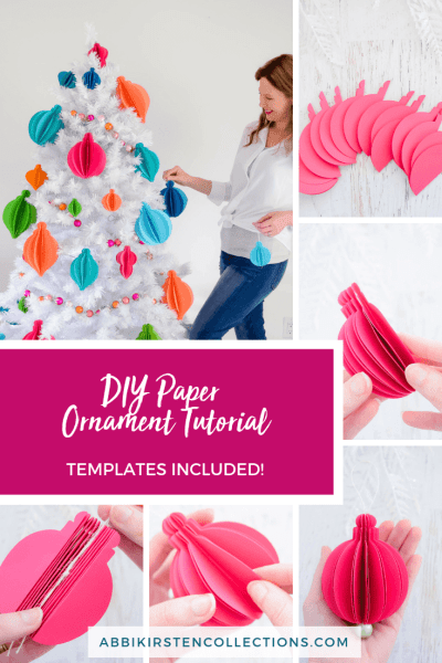 3d Paper Christmas Ornaments Easy Tree Ornament Templates