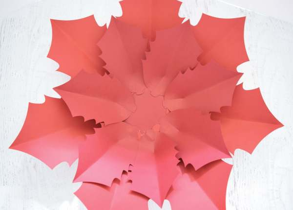 DIY Paper Noel Poinsetta Tutorial
