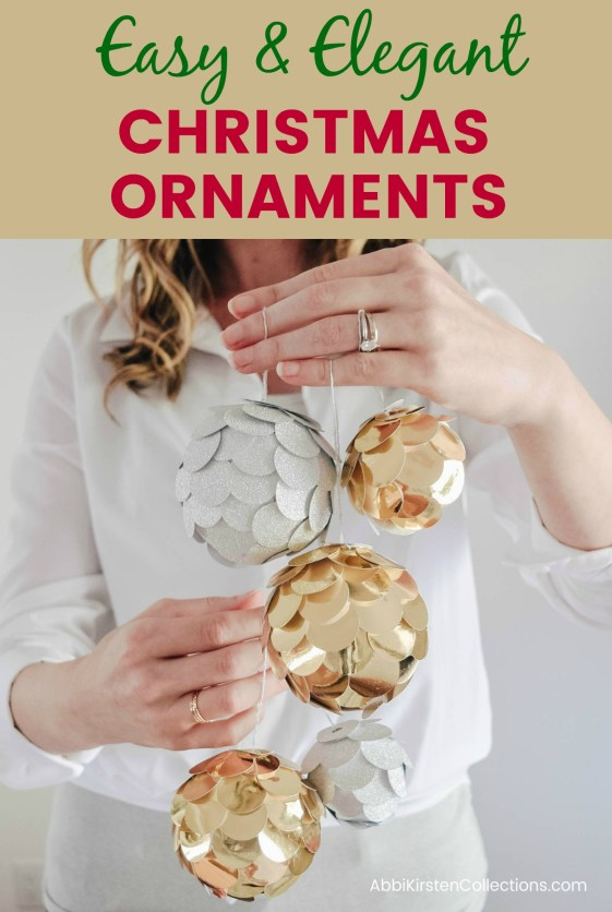 Easy Christmas Ornament Craft: Elegant DIY Silver and Gold Paper Ornaments. Kid friendly DIY Christmas ornaments to deck your halls this holiday season!