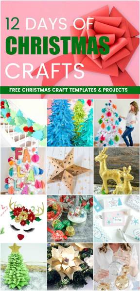 Free chrismas craft projects and templates