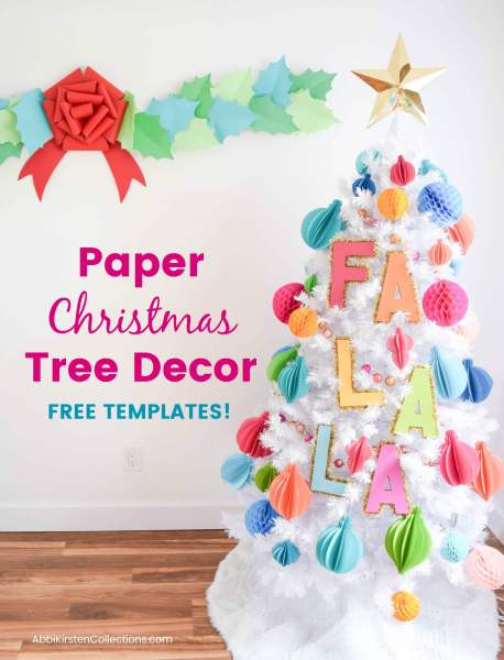 free paper christmas star topper template