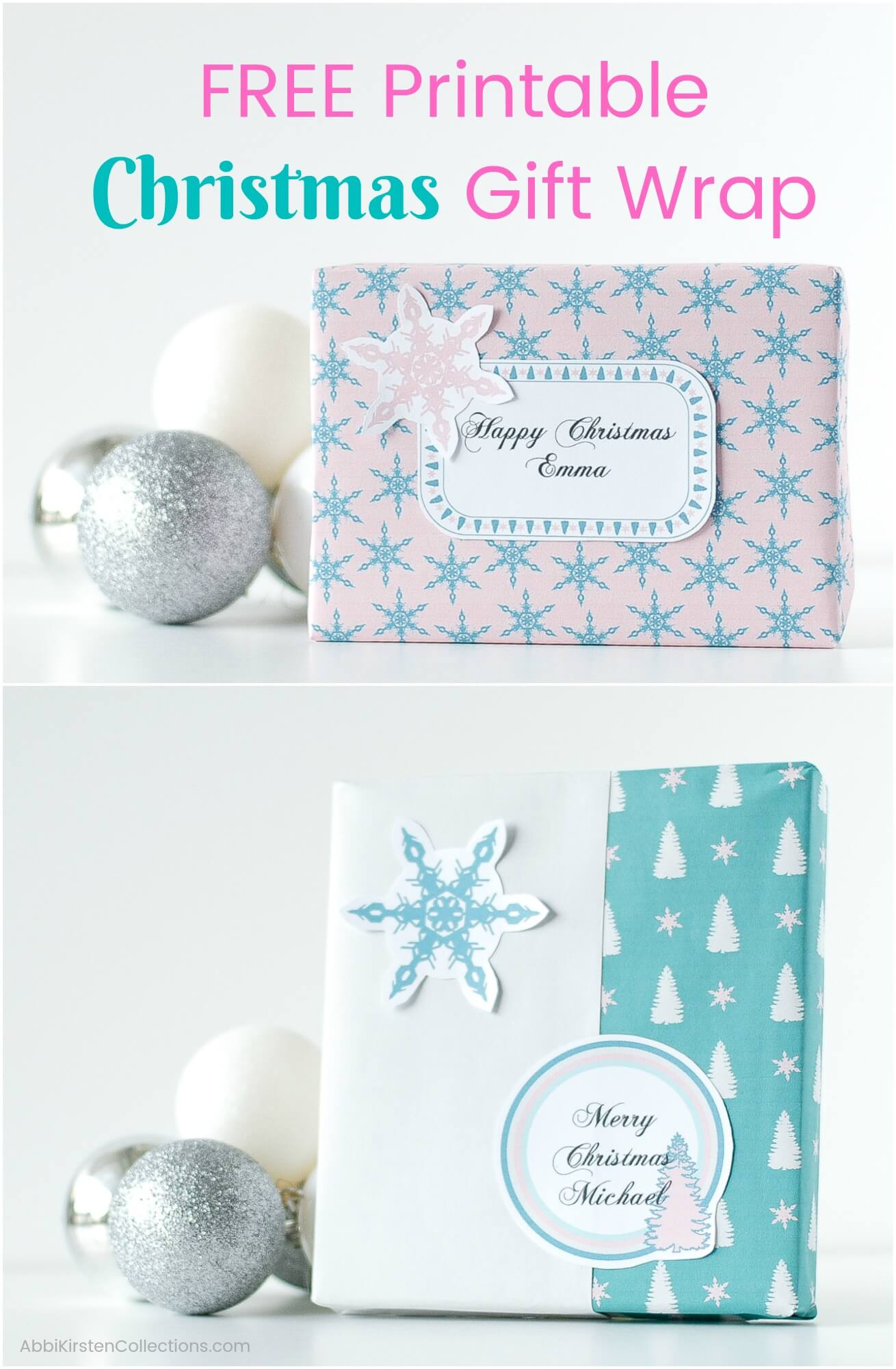 photo about Printable Christmas Wrapping Paper known as Absolutely free Printable Xmas Wrapping Paper: Fast Present Wrap