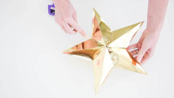 DIY Paper Christmas Tree Star Topper
