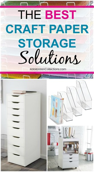 Craft paper storage ideas. 9 genius ways to store you scrapbooking and cardstock paper in your craft room. Stay organized with free craft room printables!
