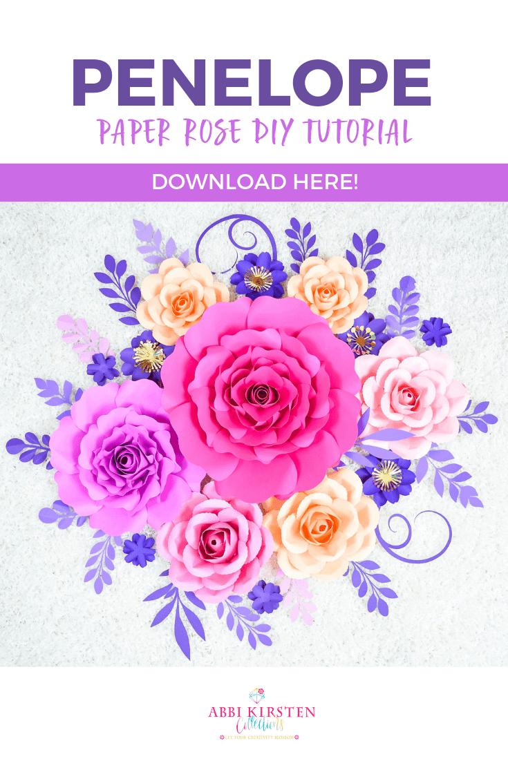 Penelope Paper Rose DIY Tutorial