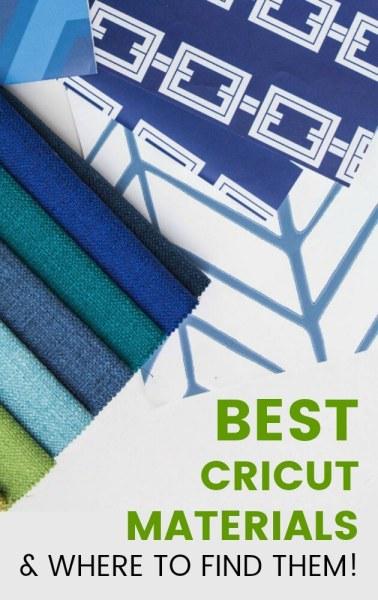 Best materials for cricut machines