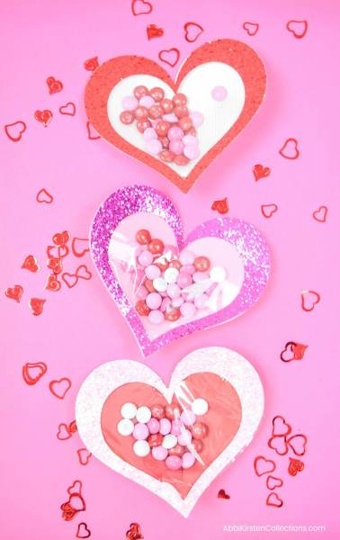 Easy valentine's day craft with candy.