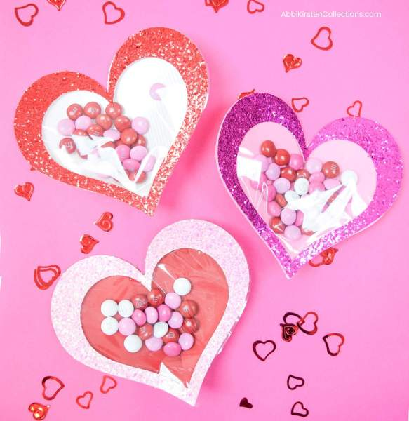 Candy Filled Hearts - Easy Valentine's Craft with Free SVG and Tutorial.