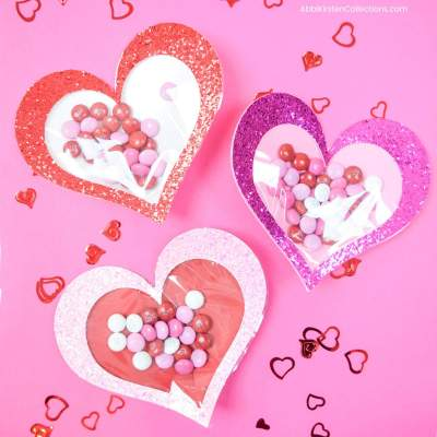 Candy Filled Hearts – Easy Valentine's Craft with Free SVG and Tutorial