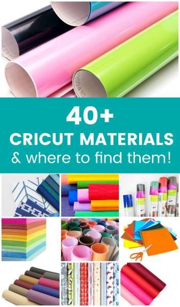List of materials that Cricut Explore and Maker can cut!