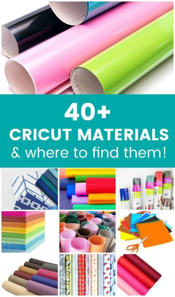List of materials that Cricut Explore and Maker can cut!