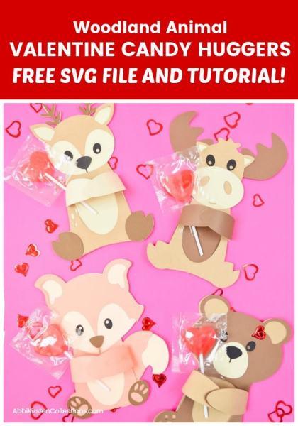 Woodland animal huggers. Free fox svg cut file.