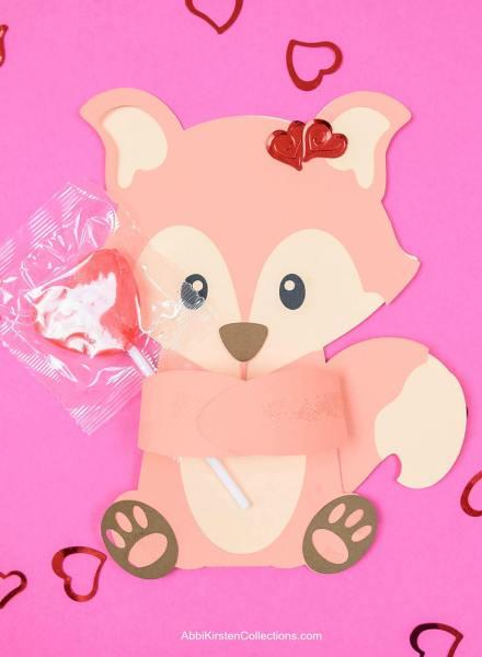 Free fox candy hugger svg cut file.