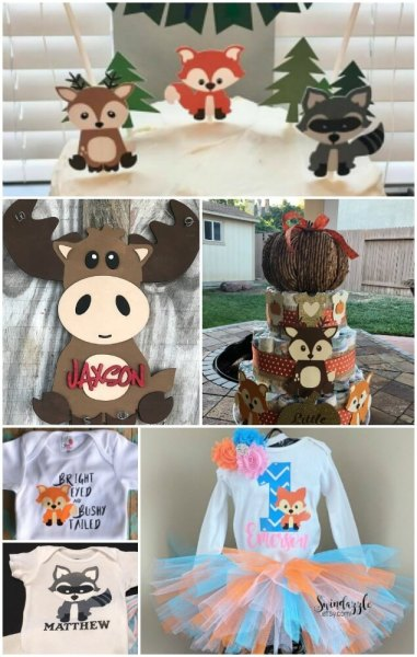 Woodland animal baby shower and nursery decor