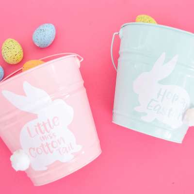 DIY Easter Bucket: Free Easter Bunny SVG Files