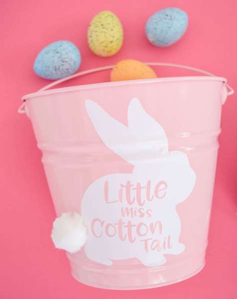 Free little miss cotton tail Easter bucket svg files