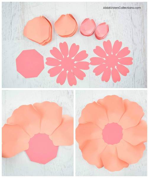 How to make large paper peonies.