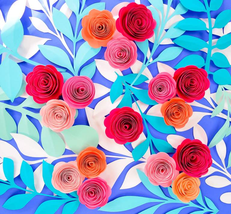 How to Make Paper Rosettes DIY Paper Flower Tutorial with Free Template