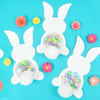Easter Bunny Craft: Candy Filled Bunny with Free Template