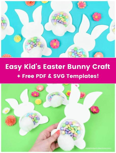 Candy Filled Easter Bunny Craft