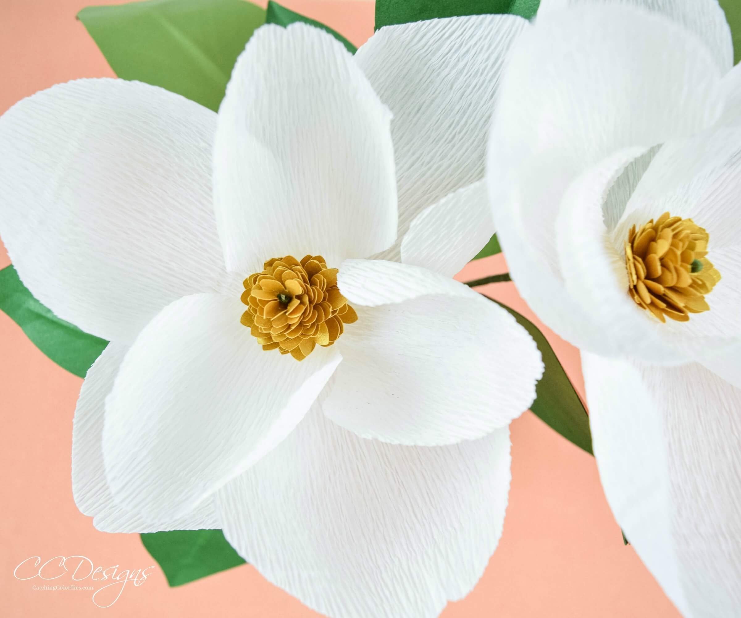 DIY Crepe Paper Magnolia Flowers: Crepe Flower Templates