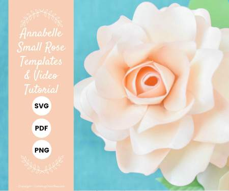 DIY paper rose templates in SVG, PDF printables.