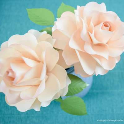 Small Paper Rose Craft Tutorial: Classic Rose Annabelle Style