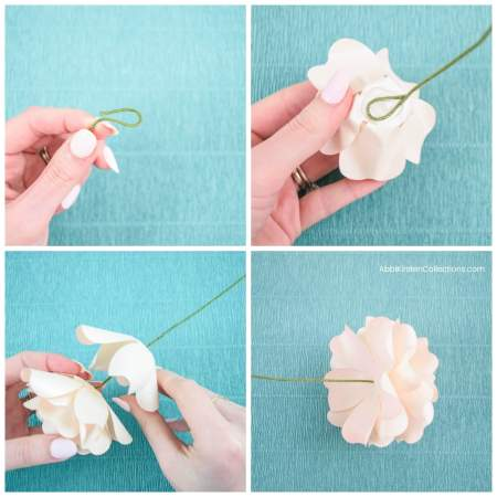 how to make a stemmed paper rose