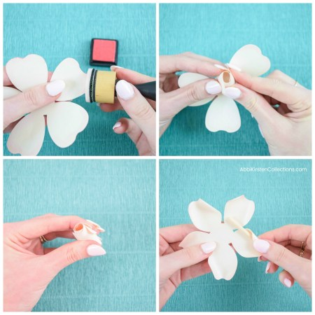How to make small paper roses