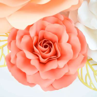 Giant Spiral Paper Rose Tutorial: Step by Step Instructions & Templates
