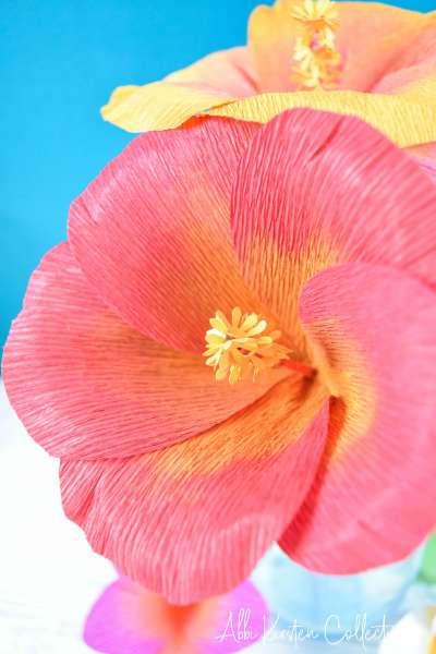 Handmade paper hibiscus flowers