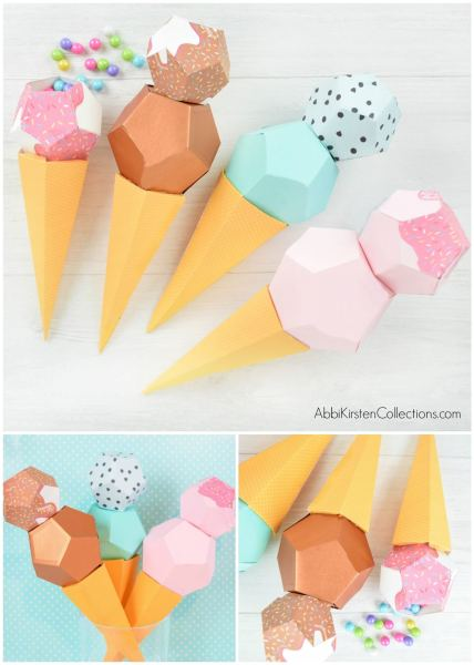 ice cream templates and tutorial