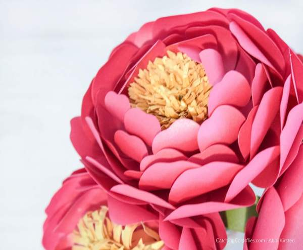 paper peony flower templates