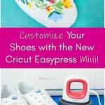 How to Use the Cricut Easpress Mini: DIY Custom Shoe Tutorial with the new Cricut Easpress Mini. Plus Free Cricut SVG Cut Files.