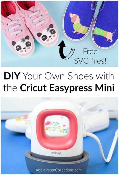 How to Use the Cricut Easypress Mini: DIY Custom Shoe Tutorial with the new Cricut Easypress Mini. Plus Free Cricut SVG Cut Files.