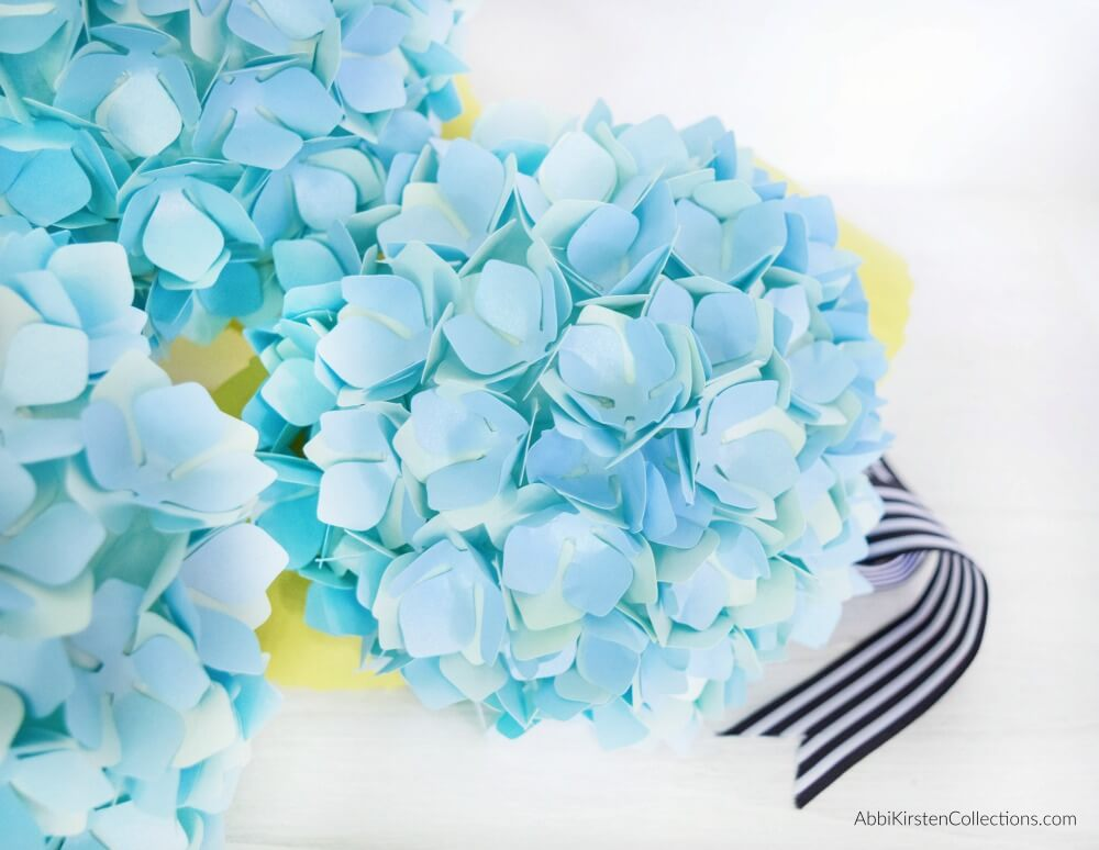 DIY Paper Hydrangea Flowers: Templates and Tutorial