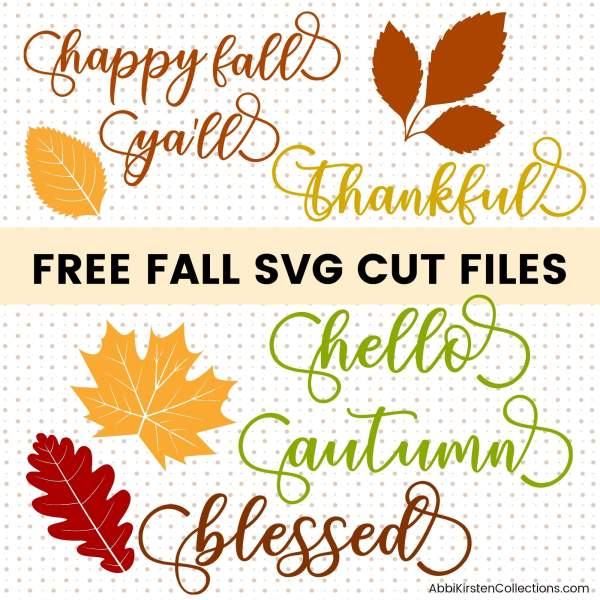 Free fall svg cut files for Cricut