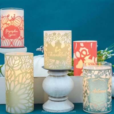 DIY Fall Candle Wraps: Thanksgiving Table Decor Ideas