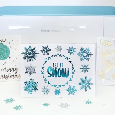 DIY Christmas Cards with Free Card SVG Cut Files