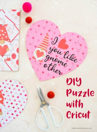 How to make easy chipboard and kraft board puzzles with your Cricut Explore and Maker machines. Download two free puzzle templates.