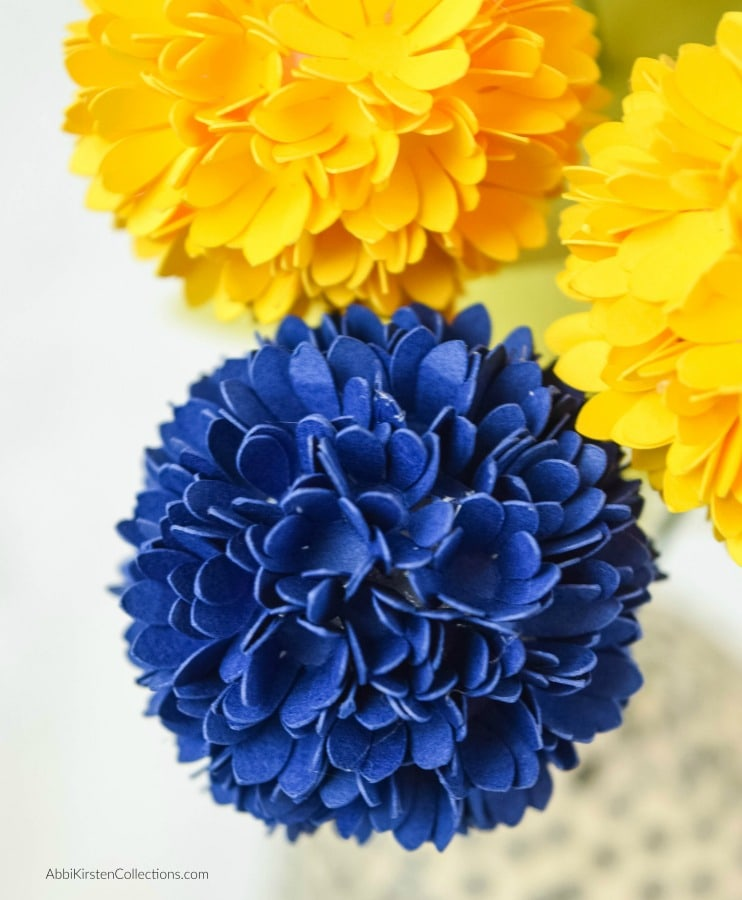 Billy Button Paper Flower Tutorial and Free Template