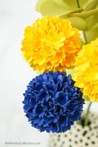 paper billy button ball flowers