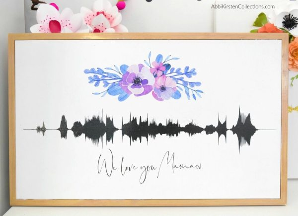 How to make your own custom sound wave art.