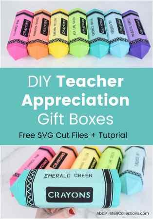 DIY teacher appreciation gift boxes