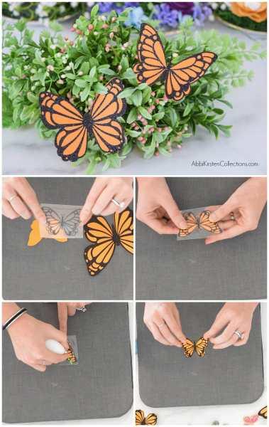 how to make DIY paper butterflies