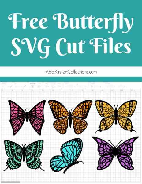 Free butterfly svg cut files to make 3D paper butterflies.